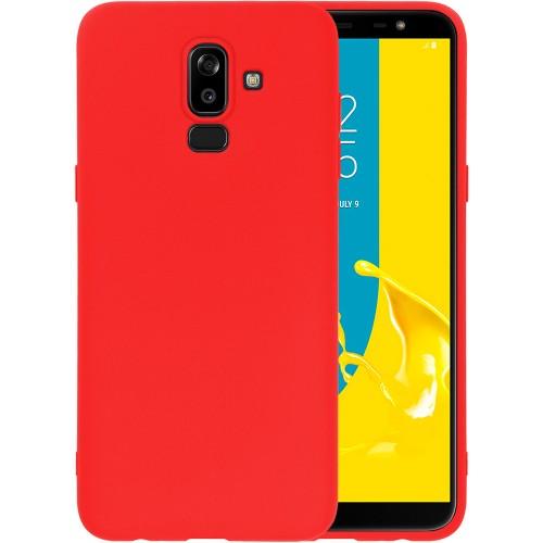 Силиконовый чехол iNavi Color Samsung Galaxy J8 (2018) J810 (красный)