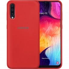 Силикон Original Case Samsung Galaxy A30s / A50 / A50s (2019) (Темно-красный)