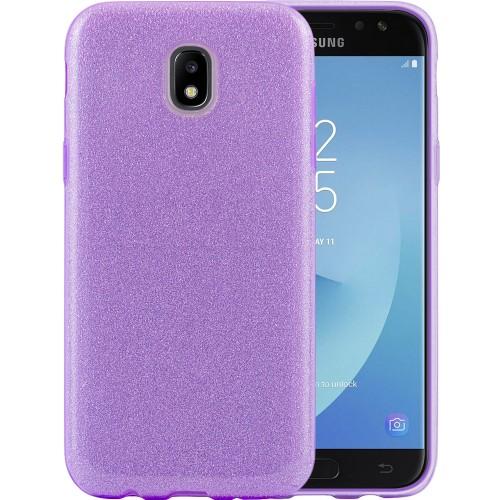 Силиконовый чехол Glitter Samsung Galaxy J5 (2017) J530 (Фиолетовый)