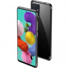 Силикон UMKU Line Samsung Galaxy A71 (2020) (Чёрный)