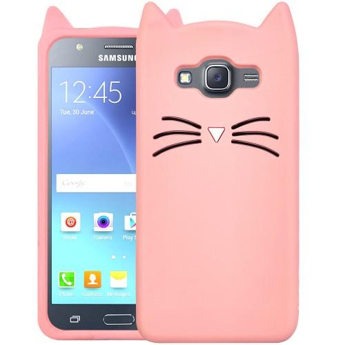 Силикон Kitty Case Samsung Galaxy J5 (2015) J500 (Розовый)