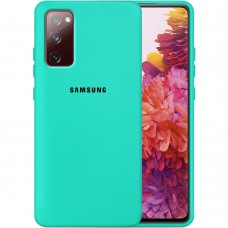 Силикон Original Case Samsung Galaxy S20 FE (Бирюзовый)