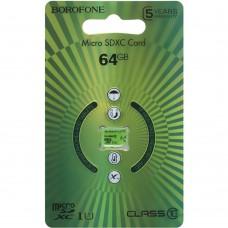 Карта памяти Borofone MicroSDHC 64Gb (Class 10)