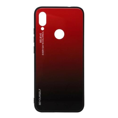 Накладка Gradient Glass Case Xiaomi Redmi Note 7 (Красный)