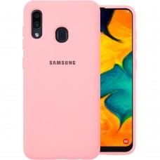 Силикон Original Case (HQ) Samsung Galaxy A20 / A30 (2019) (Розовый)