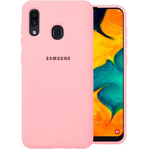 Силиконовый чехол Original Case (HQ) Samsung Galaxy A20 / A30 (2019) (Розовый)