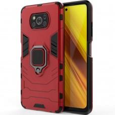 Бронь-чехол Ring Armor Case Xiaomi Poco X3 (Красный)