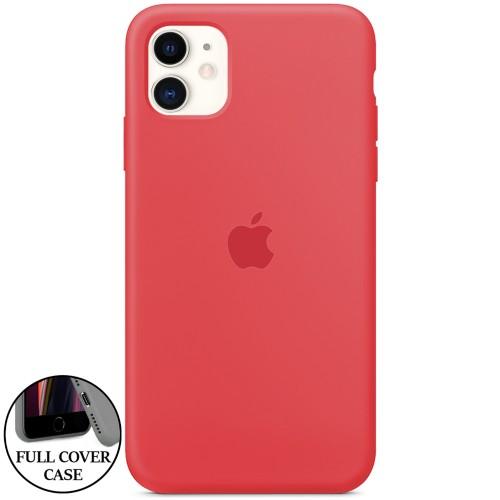 Силикон Original Round Case Apple iPhone 11 (24) Camelia