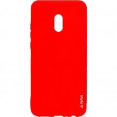 Силиконовый чехол iNavi Color Meizu M15 Lite (Красный)