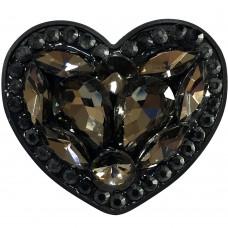 Холдер Popsocket Diamond Heart (Чёрный)