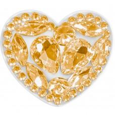 Холдер Popsocket Diamond Heart (Золотой)