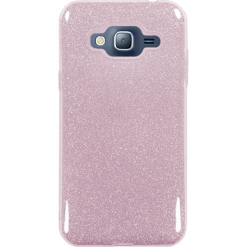 Силиконовый чехол Glitter Samsung Galaxy J3 (2016) J320 (розовый)