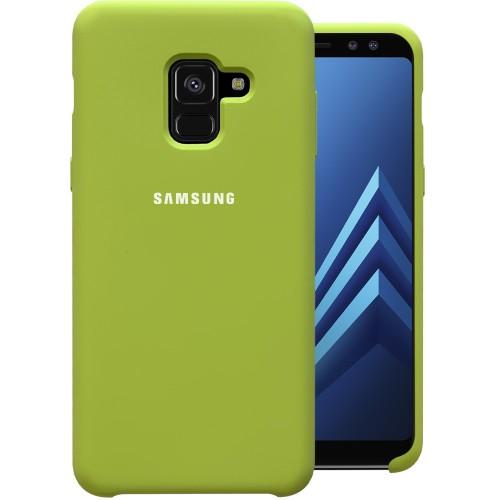 Силикон Original Case HQ Samsung Galaxy A8 (2018) A530 (Бледно-зелёный)