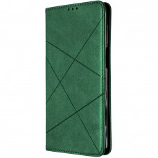 Чехол-книжка Leather Book Samsung Galaxy S21 Plus (Тёмно-зелёный)