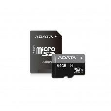 Карта памяти Adata 64Gb + SD-адаптер (Class 10)