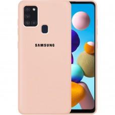 Силикон Original Case Samsung Galaxy A21S (2020) A217 (Пудровый)