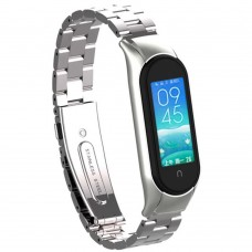 Ремешок Stainless Steel Xiaomi Mi Smart Band 3 / 4 (Silver)