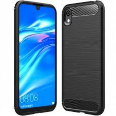 Силикон Polished Carbon Huawei Honor 8S (Чёрный)