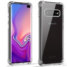 Силиконовый чехол 6D Samsung Galaxy S10e (Прозрачный)