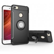 Бронь-чехол Ring Armor Case Xiaomi Redmi 3 / 3s / 3 Pro (Чёрный)