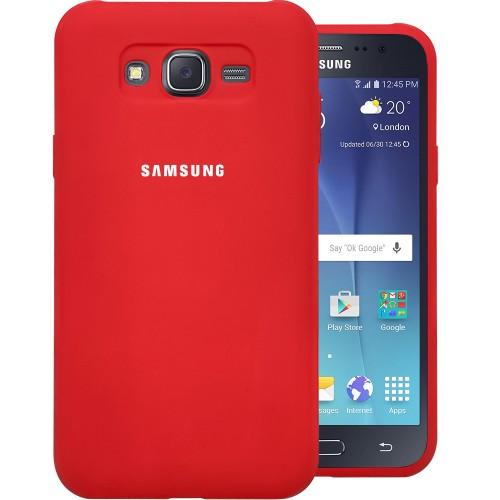 Силикон Original Case Samsung Galaxy J7 (2015) J700 (Красный)
