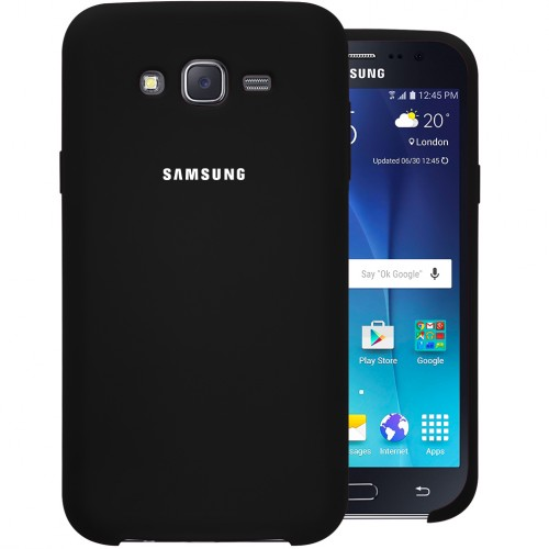 Силикон Original Case Samsung Galaxy J7 (2015) J700 (Чёрный)