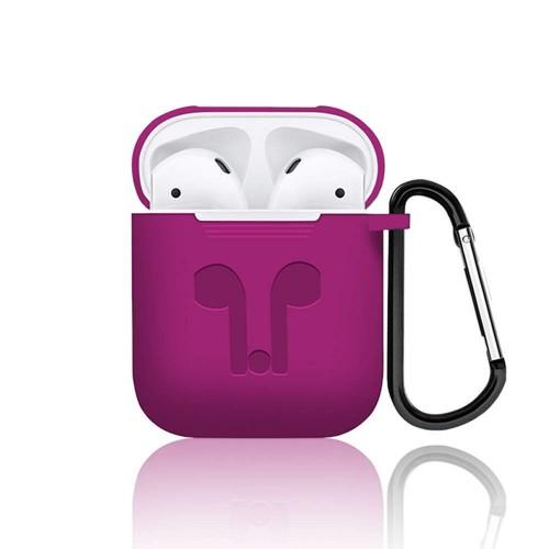 Футляр для наушников Apple AirPods Full Silicone Case (малиновый)