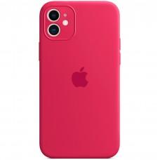 Силикон Original RoundCam Case Apple iPhone 11 (04) Rose red