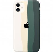 Силикон Rainbow Case Apple iPhone 11 (Green)