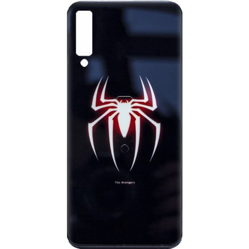 Накладка Luminous Glass Case Samsung A7 (2018) A750 (Spiderman)