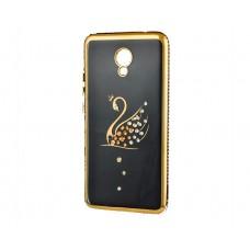 Силикон Kingxbar Diamond Meizu M5 Note (Лебедь, Золотой)
