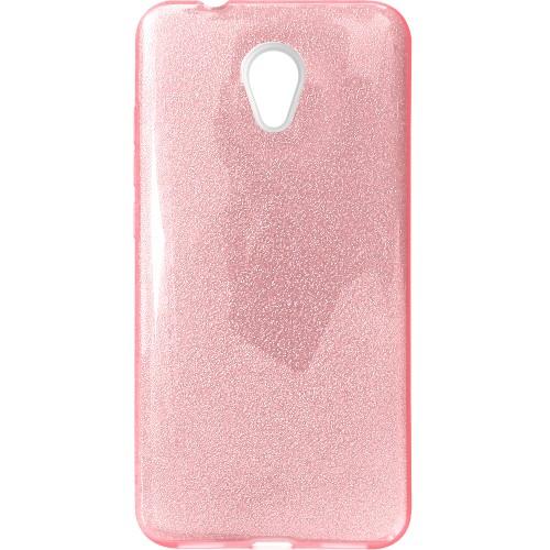 Силиконовый чехол Glitter Meizu M5s (Розовый)
