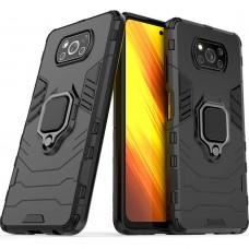 Бронь-чехол Ring Armor Case Xiaomi Poco X3 (Чёрный)