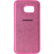 Силикон Textile Samsung Galaxy S7 (Розовый)