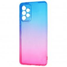 Силикон Gradient Design Samsung Galaxy A52 (2021) (Сине-розовый)
