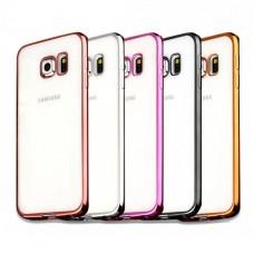 Силиконовый чехол UMKU Line Samsung S7 Edge (Золотой)