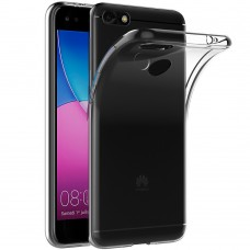 Силиконовый чехол WS Huawei Y6 Pro (прозрачный)