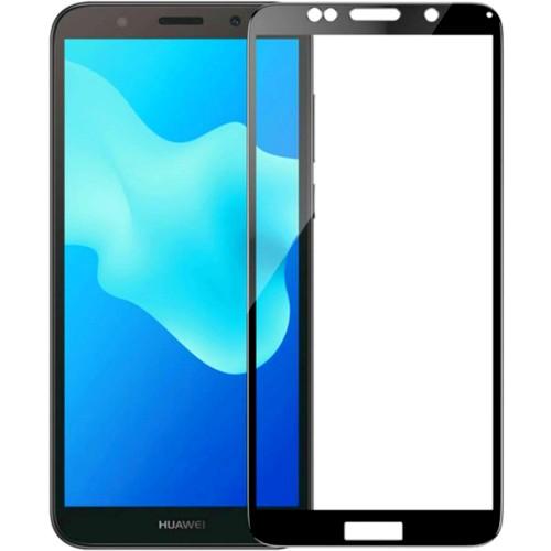 Стекло Huawei Y5 Prime (2018) / Honor 7A Black / Y5 Lite (2019) (Клей)