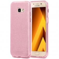 Силиконовый чехол Glitter Samsung Galaxy A5 (2017) A520 (Розовый)