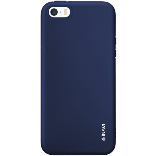 Силикон iNavi Color Apple iPhone 5 / 5s / SE (темно-синий)