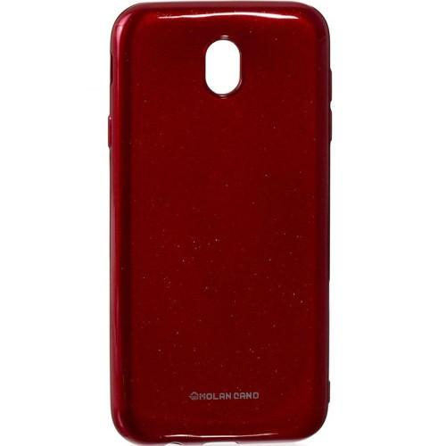 Силиконовый чехол Molan Shining Samsung Galaxy J7 (2017) J730 (Красный)