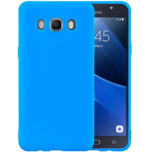 Силиконовый чехол iNavi Color Samsung Galaxy J7 (2016) J710 (голубой)