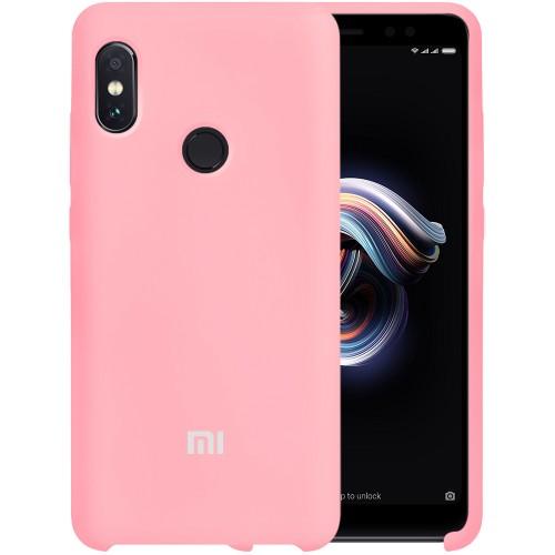 Силикон Original Case Xiaomi Redmi Note 5 / Note 5 Pro (Розовый)