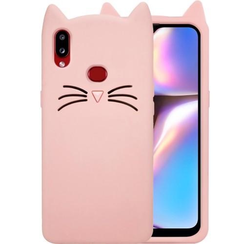 Силиконовый чехол Kitty Case Samsung Galaxy A10S (Пудра)