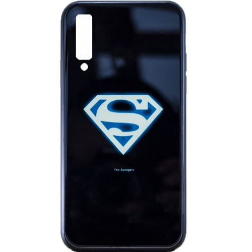 Накладка Luminous Glass Case Samsung A7 (2018) A750 (Superman)