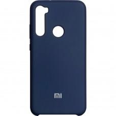 Силикон Original Case (HQ) Xiaomi Redmi Note 8 (Тёмно-синий)