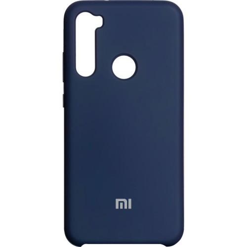 Силиконовый чехол Original Case (HQ) Xiaomi Redmi Note 8 (Тёмно-синий)