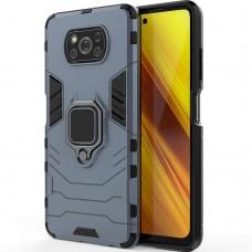 Бронь-чехол Ring Armor Case Xiaomi Poco X3 (Пыльная бирюза)