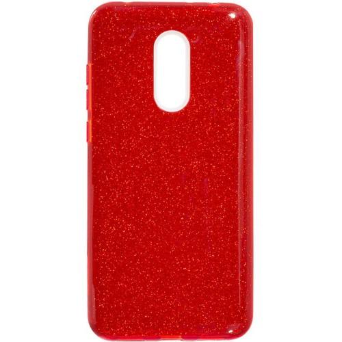 Силиконовый чехол Glitter Xiaomi Redmi 5 (красный)