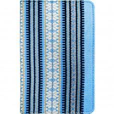 Чехол-книжка Universal Clip Stand 6-8 (Голубая вышиванка)
